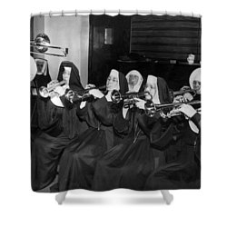 Nuns Rehearse For Concert Shower Curtain