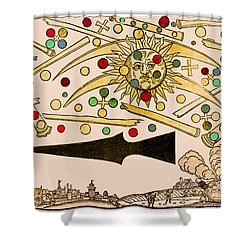 Nuremberg Ufo 1561 Shower Curtain by Science Source