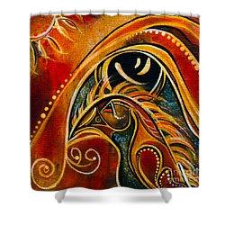 Nurturer Spirit Eye Shower Curtain