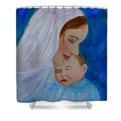 Nurturing Love Of A Mother  Shower Curtain by The Art With A Heart By Charlotte Phillips