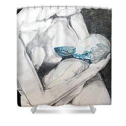 Shower Curtain featuring the painting Nurturing The Sea by Lazaro Hurtado