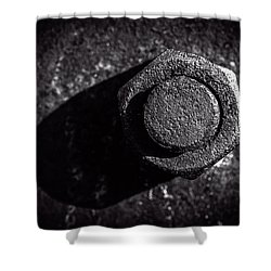 Nut And Bolt Shower Curtain by Bob Orsillo