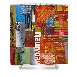 Ny City Collage 3 Shower Curtain by Corporate Art Task Force