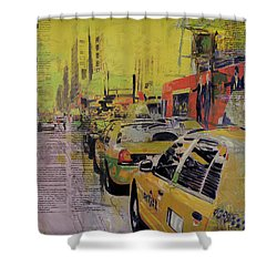 Ny City Collage Shower Curtain by Corporate Art Task Force