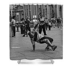 Shower Curtain featuring the photograph Ny City Street Performer by Angela DeFrias