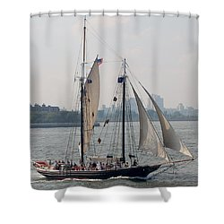 Ny Harbor Schooner Shower Curtain