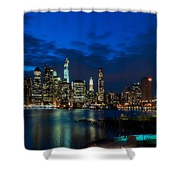 Ny Skyline From Brooklyn Heights Promenade Shower Curtain by Mitchell R Grosky