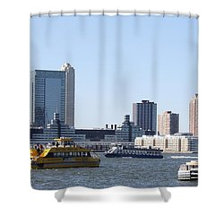 Ny Waterways Shower Curtain by John Telfer