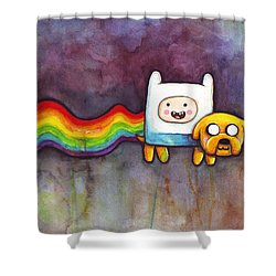 Nyan Time Shower Curtain