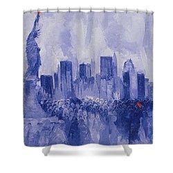 NYC Shower Curtain by Bayo Iribhogbe