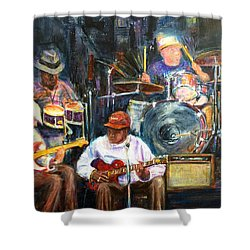 Nyc Blues Shower Curtain