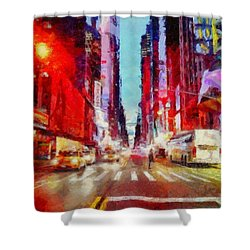 Nyc Fifth Ave Shower Curtain