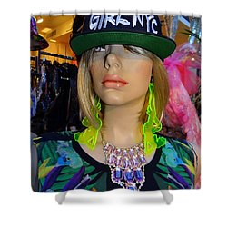 Nyc Girl Shower Curtain by Ed Weidman