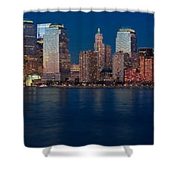 Nyc Pano Shower Curtain by Jerry Fornarotto