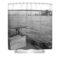 Nyc Prohibition Police Boat Shower Curtain by Underwood Archives