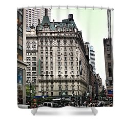 Nyc Radisson Hotel Shower Curtain by Susan Garren