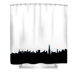 Nyc Silhouette Shower Curtain by Natasha Marco