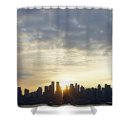 Nyc Sunrise Panorama Shower Curtain