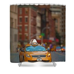 Taxi Shower Curtain by Jerry Fornarotto