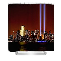 Nyc Tribute In Light 2013 Shower Curtain by Nick Zelinsky