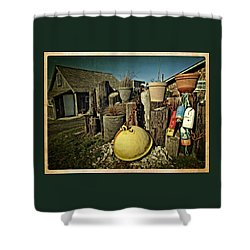 Shower Curtain featuring the photograph Nye Beach Buoys by Thom Zehrfeld