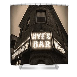 Nye's Bar Sepia V.2 Shower Curtain