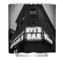 Nye's In Black And White Shower Curtain