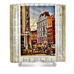 Nyse 1882 Shower Curtain by Benjamin Yeager