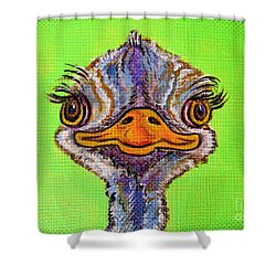 O For Ostrich Shower Curtain