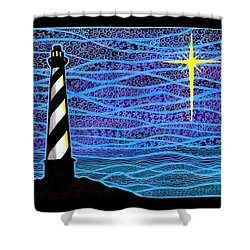 O Holy Night Hatteras Shower Curtain