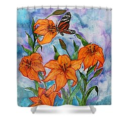 O Tiger Lily Shower Curtain by Janet Immordino