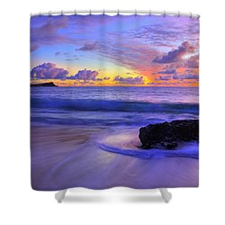 Oahu Sunrise Shower Curtain