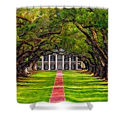 Oak Alley Paint Version Shower Curtain by Steve Harrington