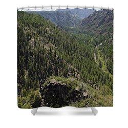 Oak Creek Canyon Overlook Shower Curtain by David Gordon
