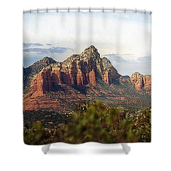 Oak Creek Canyon Sedona Pan Shower Curtain by Jeff Brunton