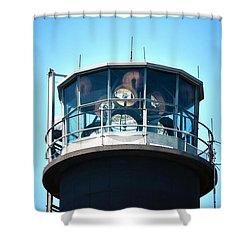Oak Island Lighthouse Beacon Lights Shower Curtain by Sandi OReilly