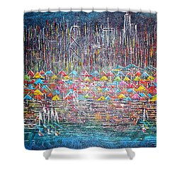 Oak Street Beach Chicago II -sold Shower Curtain by George Riney