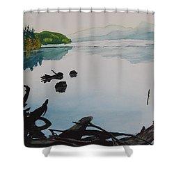 Oakridge Reservoir #1 Shower Curtain by Dawna Morton