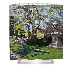 Oakwood Cemetery Shower Curtain