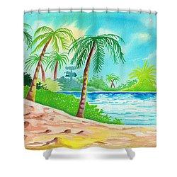 Oasis Shower Curtain by Anthony Mwangi