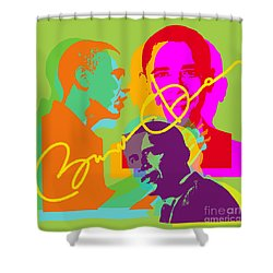 Obama Shower Curtain by Jean luc Comperat