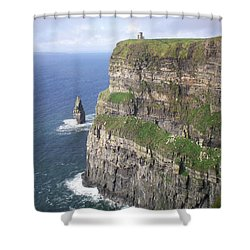 Cliffs Of Moher - O'brien's Tower Shower Curtain