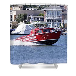 Oc Sheriff Harbor Patrol Fire Fighter Shower Curtain by Shoal Hollingsworth