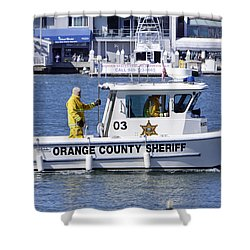 Oc Sheriff Ready For The Fire Shower Curtain by Shoal Hollingsworth