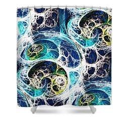 Ocean Shower Curtain by Anastasiya Malakhova