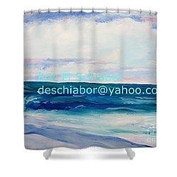 Ocean Assateague Virginia Shower Curtain by Eric  Schiabor