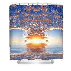 Ocean At Sunset Shower Curtain by Michal Bednarek