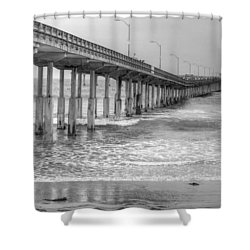 Ocean Beach Pier Shower Curtain
