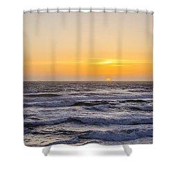 Ocean Beach Sunset Shower Curtain