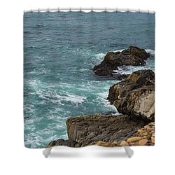 Ocean Below Shower Curtain by Suzanne Luft